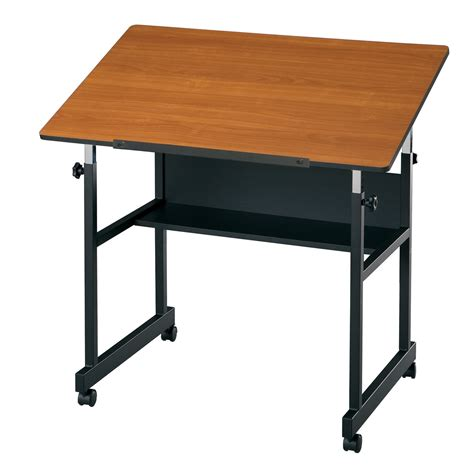 Alvin Minimaster Adjustable Drafting Table Cherry Ergonomic Drafting Table