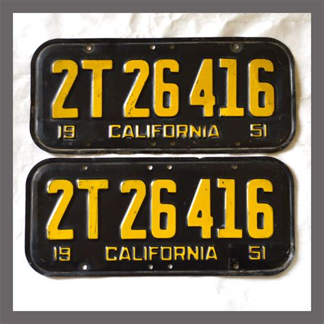 Vanity Plates For Sale by 1951 California License Plate For Sale Turbabitkeep