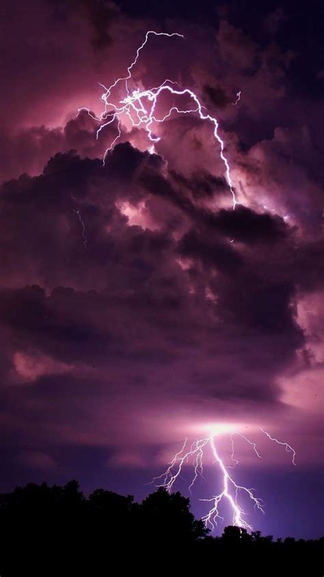clouds storm lightning wallpaper