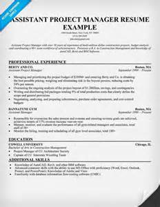 Sample Resume Of A Project Manager How To Write An Assistant Project Manager Resume