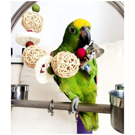 Handmade Parrot Toys - bird toys parrot cage toys cages cockatoo conure loofah