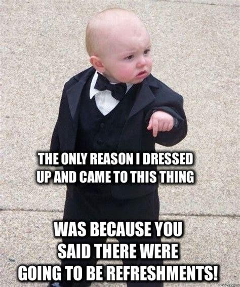 Baby In Tuxedo Meme - funny