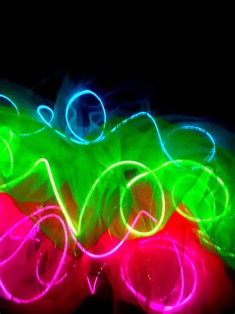 light up tutu light up tutu up neon tutu el wire edm costume
