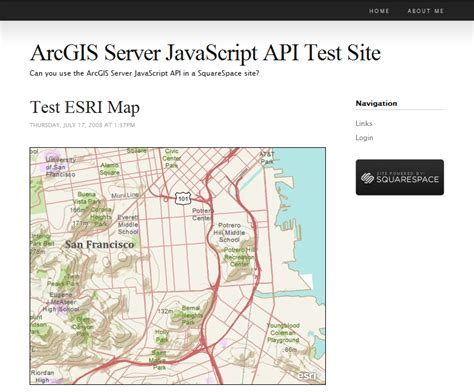 arcgis javascript layout running the arcgis javascript api in a squarespace site