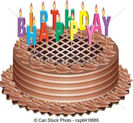 torta clipart torta candele compleanno urente vettore candele