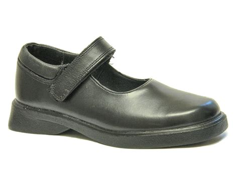 toughees school shoes black leather uk size 3