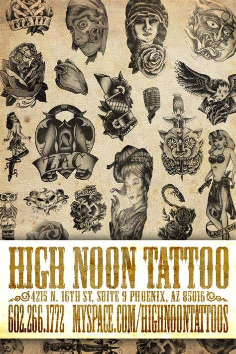 high noon tattoo flyer by recipeforhaight on deviantart