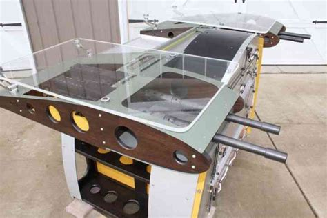 aviator desk wwii aircraft inspired aluminum and wood