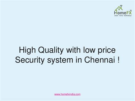 high quality security system in chennai with low price