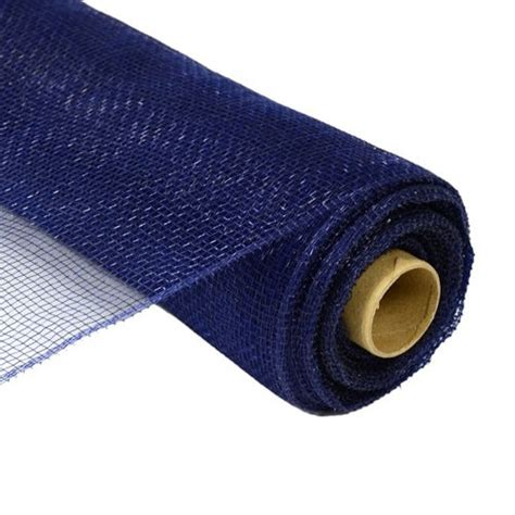 21 navy blue deco poly mesh 10 yards by customwreathdecor