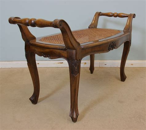 Vintage Dressing Table Stool by Antique Georgian Edwardian Furniture The