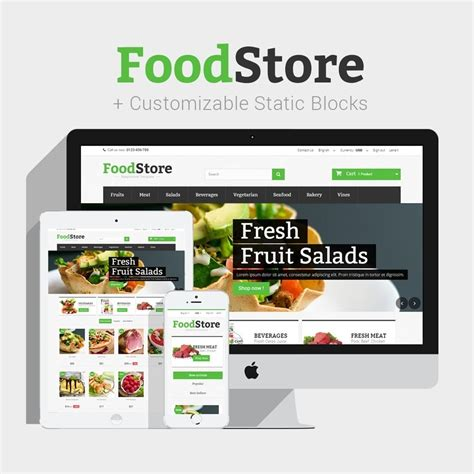 themes for grocery store food store prestashop 1 6 responsive prestashop addons