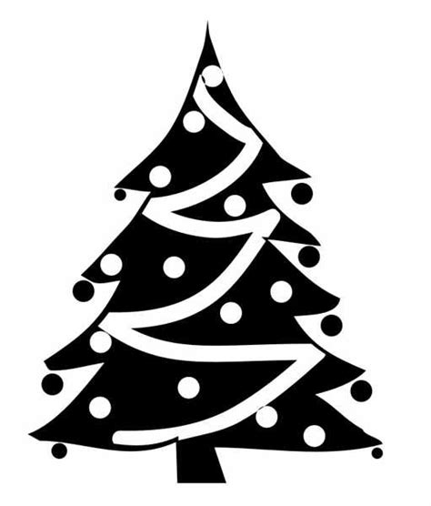 christmas tree clipart black and white clipartion com