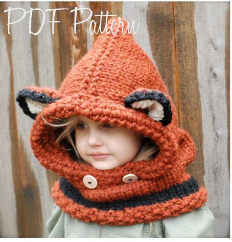etsy cowl pattern knitting pattern failynn fox cowl 12 18 months