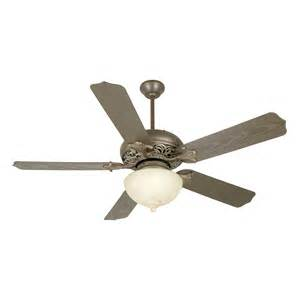 Outdoor Ceiling Fan With Light Craftmade Omi52agvm 2 Light Outdoor Ceiling Fan Atg Stores