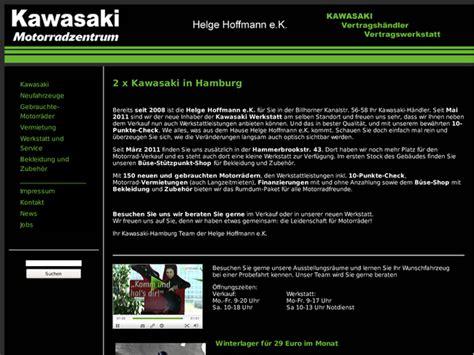 Motorradhandel In Hamburg by Helge Hoffmann Kawasaki Vertragsh 228 Ndler In Hamburg