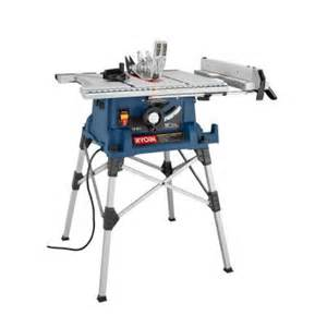 ryobi 10 in portable table saw with stand rts21 the