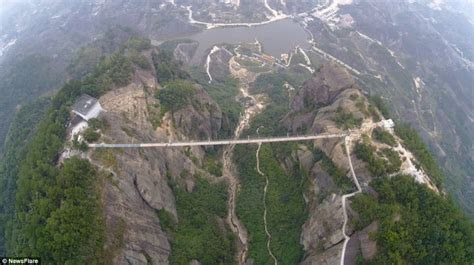 Lu Gantung Biasa ini jembatan gantung berlantai kaca terpanjang di dunia