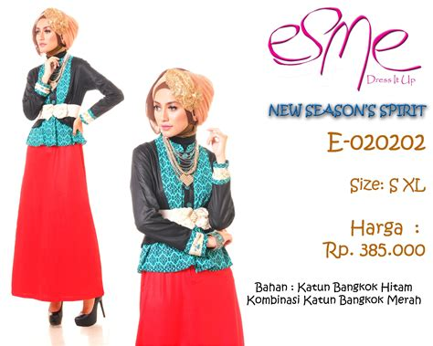 Busana Muslim Stripe Zahra e 020202 season s spirit baju muslim gamis modern