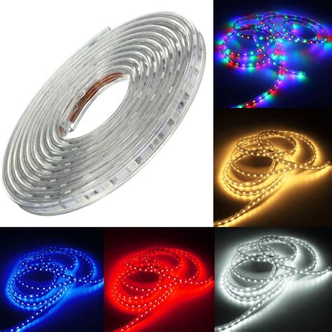220v 3m 5050 Led Smd Outdoor Waterproof Flexible Tape Rope 3m Led Light Strips
