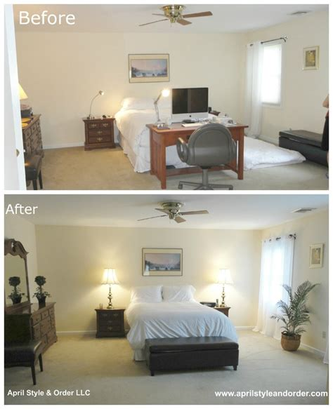 before and after staging master bedroom before staging and after home staging