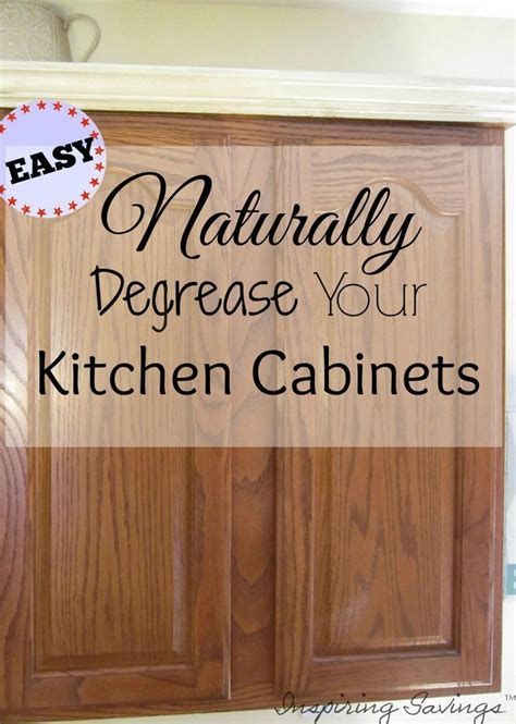 How To Clean Kitchen Cabinets Naturally by How Degrease Your Kitchen Cabinets All Naturally