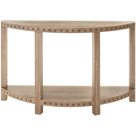 home decorators console table home decorators collection nailhead light washed oak