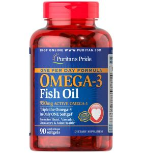 Puritan S Pride Maximum Strength Omega 3 6 9 2 Murah puritan s pride one per day omega 3 fish 1360 mg 950 mg active omega 3 90 softgels