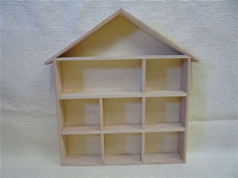 dolls house shelves wooden house shape display shelf unit thimbles doll s house miniatures