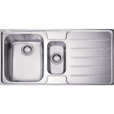 Homebase Kitchen Sinks Franke Laser 651 Stainless Steel Kitchen Sink 1 5 Bowl