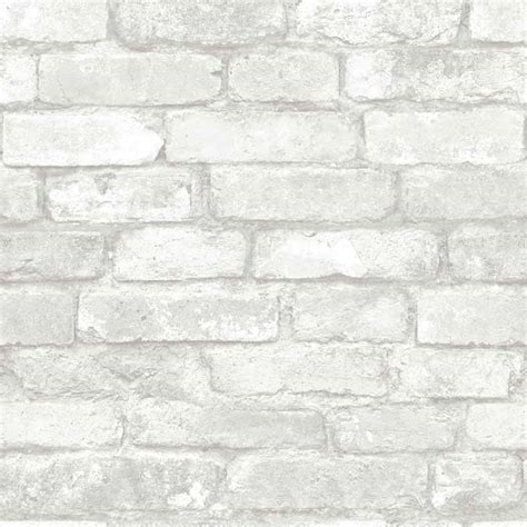 peel and stick wall grey and white brick peel and stick nuwallpaper