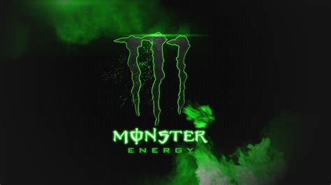 Monster Energy Black And Green HD Wallpaper Background