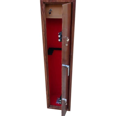 wood gun cabinet 6 gun cabinet wood effect