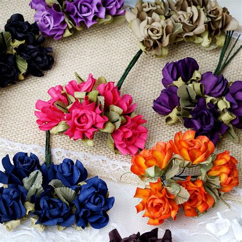 craft paper flowers roses 60 pcs mini craft paper roses flowers wedding favors