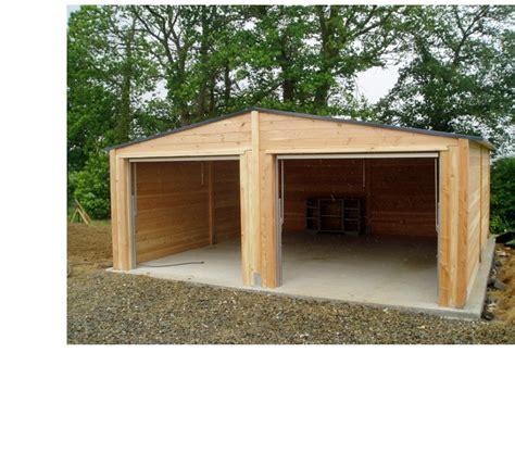 garage 6x6m garage bois douglas 6x6m epaisseur 48 mm evreux 27000