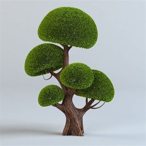tree 3d model trees set 3d model max obj cgtrader