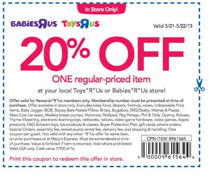 Babies R Us Crib Coupons Babies R Us Coupon Codes January 2015