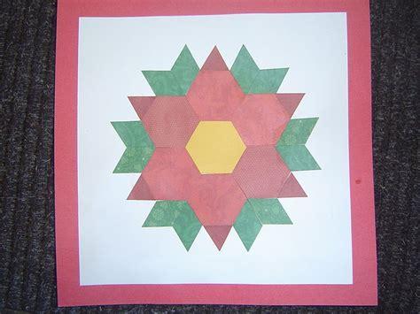 poinsettia pattern for kindergarten mrs t s first grade class pattern block poinsettia