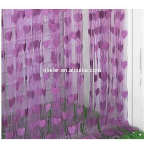 heart pattern curtains 2017 hot sale romantic string window curtain with heart
