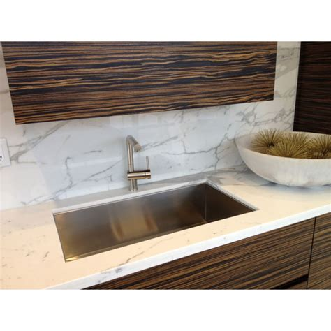 36 Inch Undermount Kitchen Sink 36 Inch Stainless Steel Undermount Single Bowl Kitchen Sink Zero Radius Design