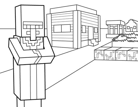 minecraft coloring pages foldable villager pdf printable coloring page minecraft