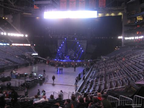best seats in philips arena for a concert philips arena section 108 concert seating rateyourseats