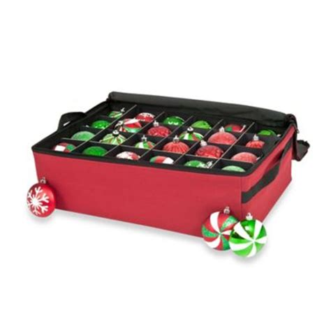 buy real simple 174 3 tray holiday ornament storage from bed