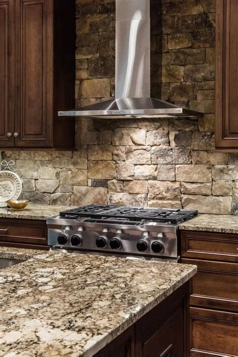 rock kitchen backsplash best 25 stone kitchen backsplash ideas on pinterest