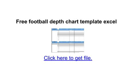 free football depth chart template free football depth chart template excel docs
