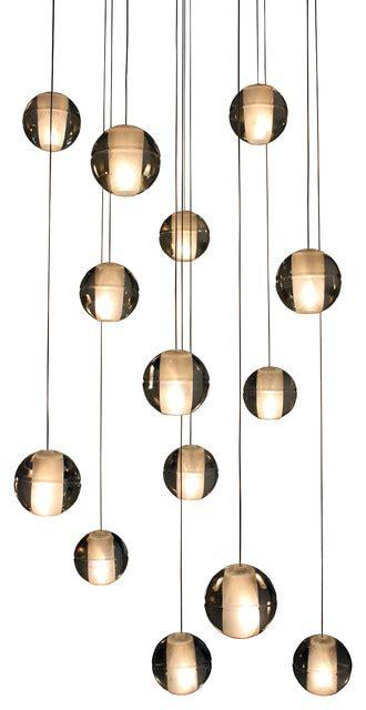 orion 14 light floating glass globe led chandelier