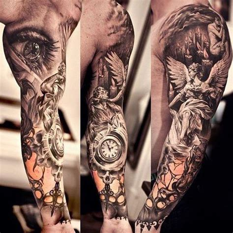 angel sleeve tattoos for men sleeve for www imgkid the image