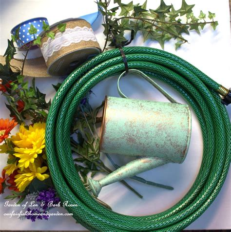 Garden Hose Material Diy Garden Hose Wreaths Our Fairfield Home Garden