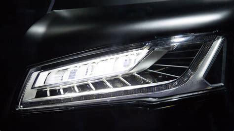 audi matrix headlights 2014 audi a8 matrix led headlights at work youtube
