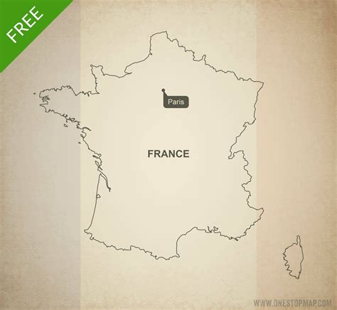 printable maps france free vector map of france outline one stop map